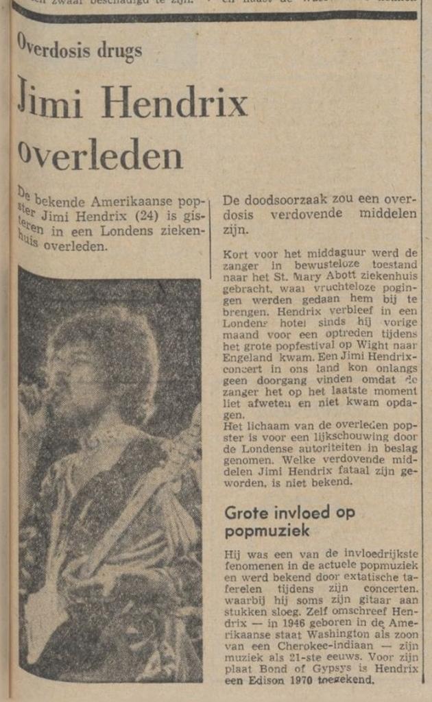 DEE WAARHEID (NETHERLANDS) SEPTEMBER 19,1970