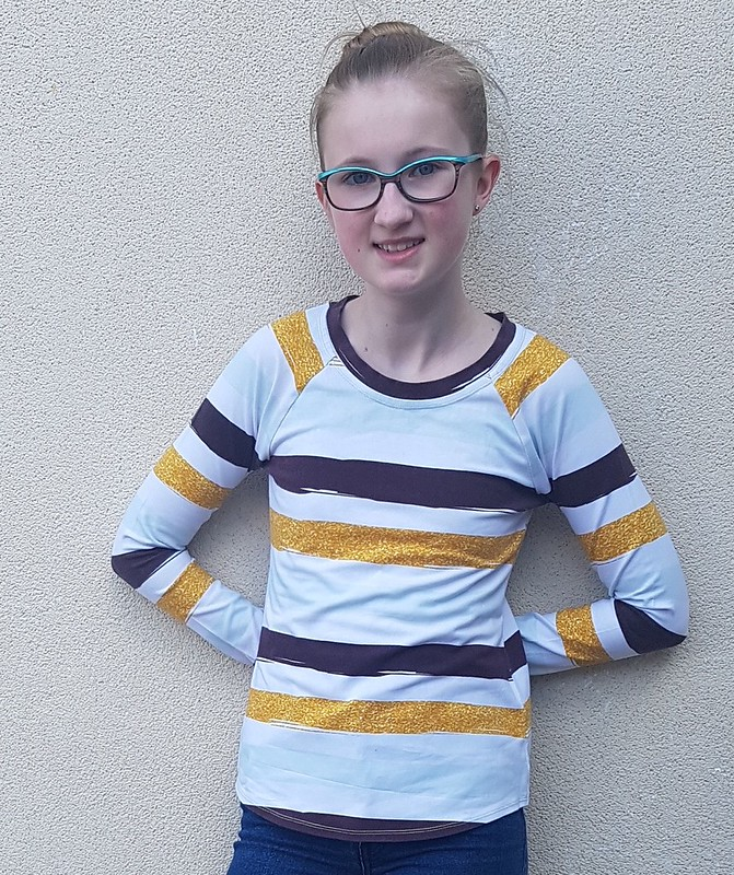 Hey June Camden Raglan in cotton lycra knit from Crafty Mamas Fabrics