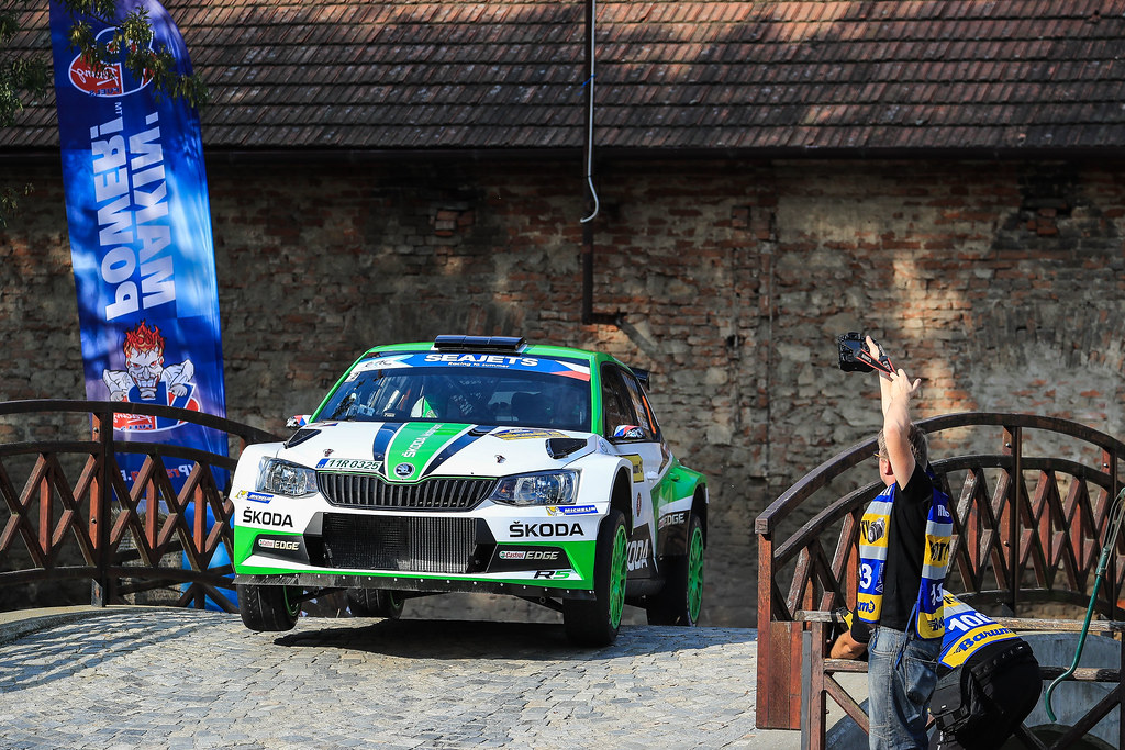 02 KOPECKY Jan (CZE) DRESLER Pavel  (CZE) Skoda Fabia R5 Action during the 2017 European Rally Championship ERC Barum rally,  from August 25 to 27, at Zlin, Czech Republic - Photo Jorge Cunha / DPPI