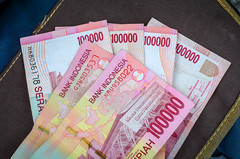 Rupiah Indonesia money detail