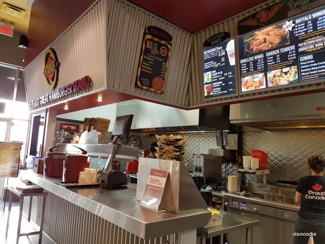 Fatburger order counter