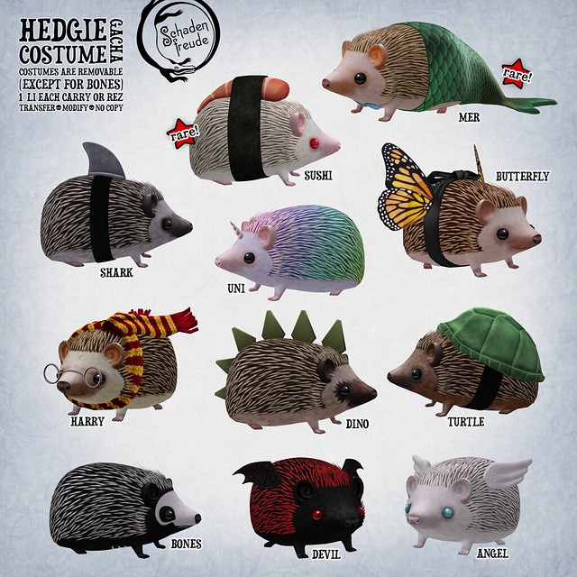 hedgie costume key