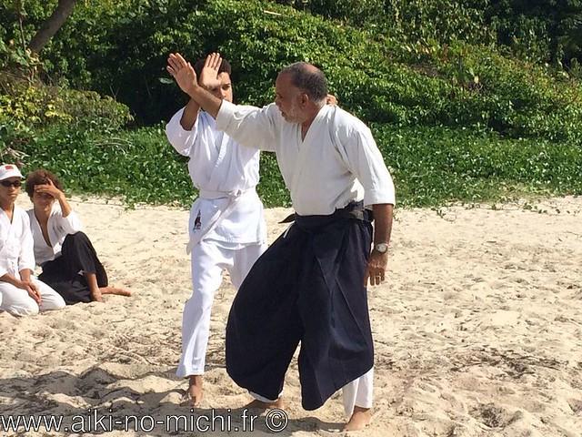 Aikido sur la plage de Macabou