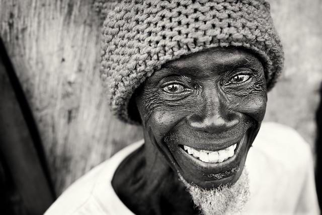 Ghana, happy tailor in Winneba