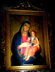 """""""The Virgin Mary and Child"""" - painting on wood, about 1480, assigned to Jacopo Ripanda - Santi Apostoli Church in Rome"""
