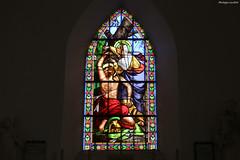 Courcy, église Saint-Lô : vitrail d'Antonin Doumerc - Photo of Guéhébert