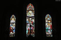 Courcy, église Saint-Lô : vitraux - Photo of Guéhébert