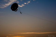 Parasailing in Evening
