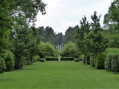 Lisle, IL, Morton Arboretum, Hedge Garden, White Pillar Quartet