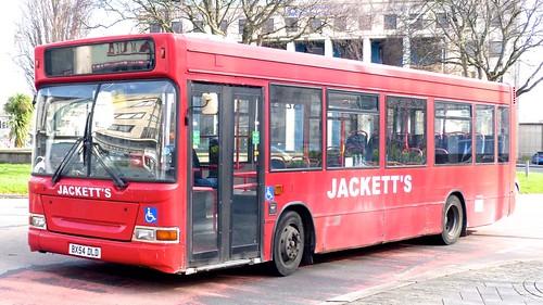 BX54 DLD 'JACKETTS' Dennis Dart SLF / Plaxton Pointer on 'Dennis Basford's railsroadsrunways.blogspot.co.uk'