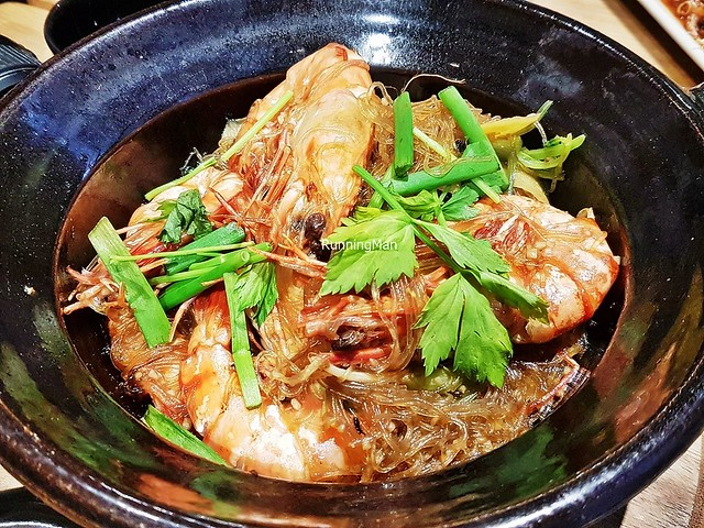 Tiger Prawns Glass Noodles Claypot