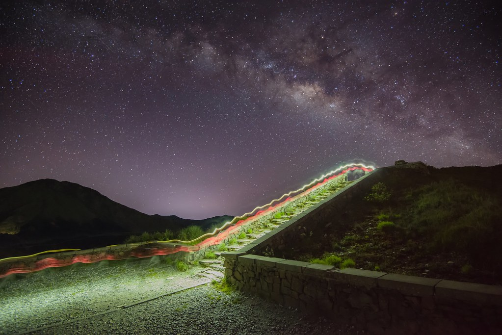 Milky way, Mountain Hehuan