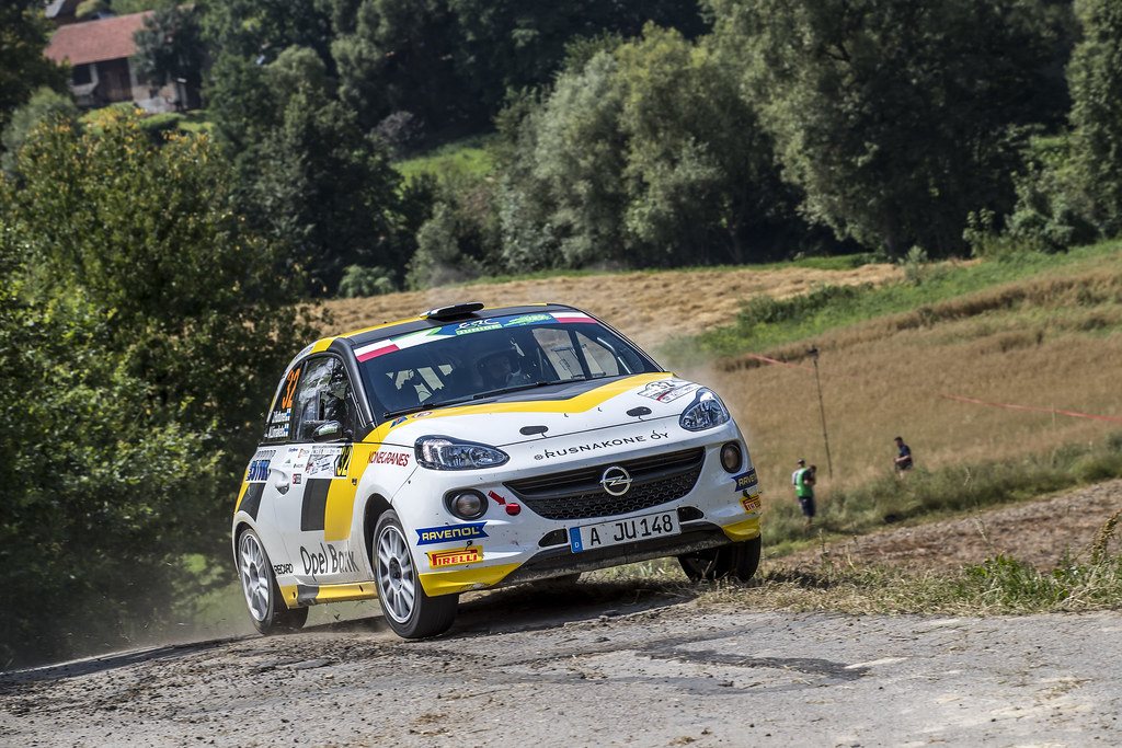 32 HUTTUNEN Jari (FIN) LINNAKETO Antti (FIN) Opel Adam R2 action during the 2017 European Rally Championship Rally Rzeszowski in Poland from August 4 to 6 - Photo Gregory Lenormand / DPPI