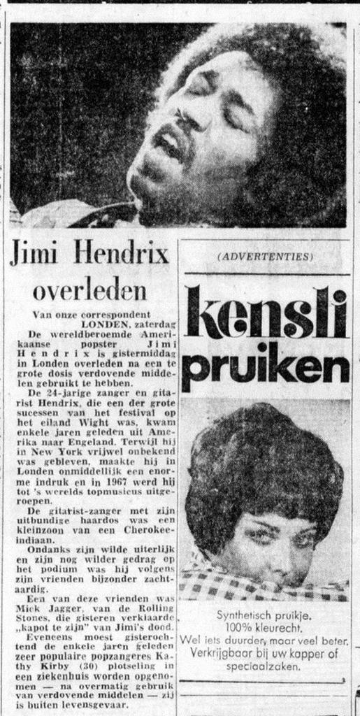 DE TELEGRAF (NETHERLANDS) SEPTEMBER 19, 1970