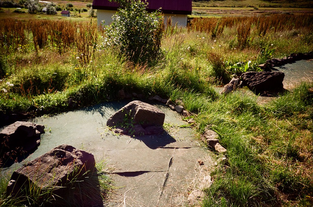 Abandoned mini-golf course in the Westfjords