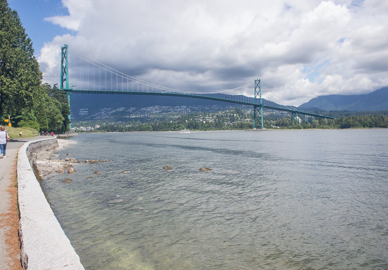 The Lions Gate Bridge from Stanley Park, Vancouver