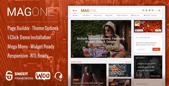 MagOne v4.8.4.9 – Newspaper & Magazine WordPress Theme