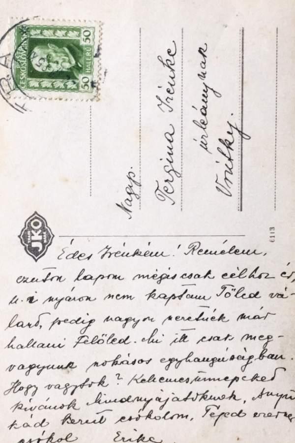 Pohľadnica Nitra - Biskupský palác okolo roku 1920
