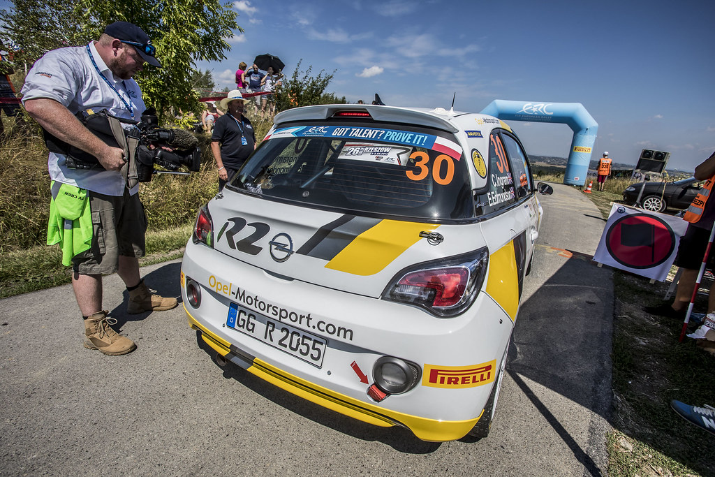30 INGRAM Chris (GBR) ELLIOTT Edmondson (GBR) Opel Adam R2 action during the 2017 European Rally Championship Rally Rzeszowski in Poland from August 4 to 6 - Photo Gregory Lenormand / DPPI