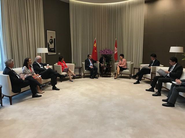 Visita CE Hong kong Carrie Lam
