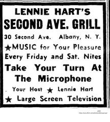 Leonard Hart's second ave  grill  1950  albany ny