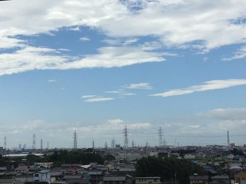 台風が通り過ぎた後の朝。 01