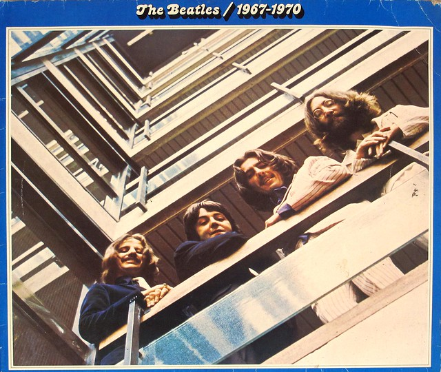 "BEATLES 1967-1970 (Blue Album Cover) 2nd Pressing Gatefold 12"" MAXI-SINGLE / LP VINYL"