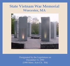 State Vietnam War Memorial, Worcester, MA