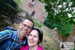 FunPic: Frank und Manuela auf dem Château du Wasenbourg