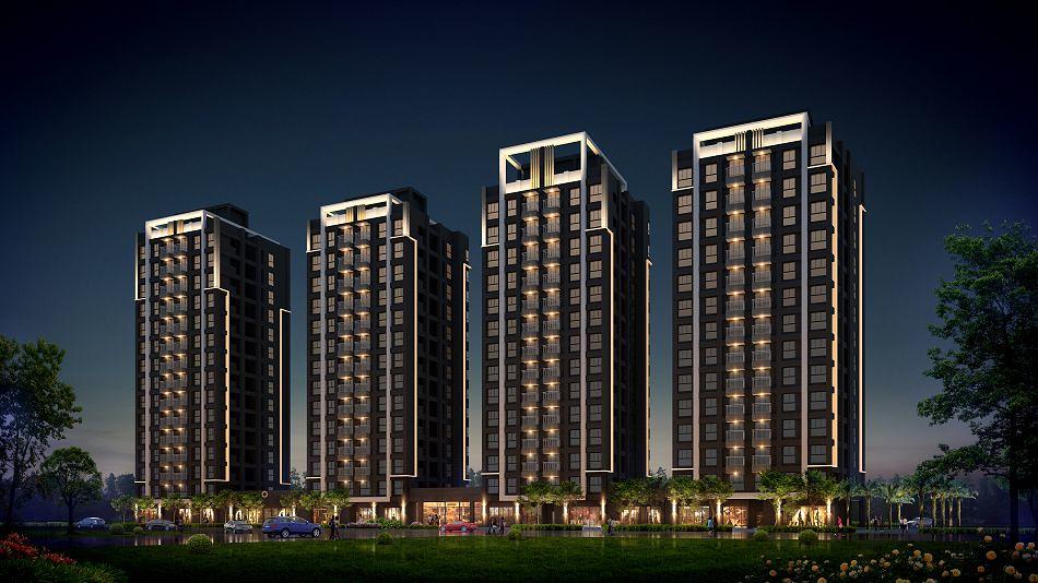 20170718-興築建設八里案外觀夜景