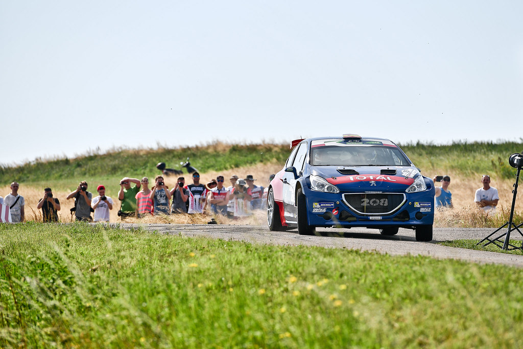 15 SUAREZ Jose Antonio (ESP) CARRERA ESTEVEZ Candido (ESP) Peugeot 208 T 16 action during the 2017 European Rally Championship Rally Rzeszowski in Poland from August 4 to 6 - Photo Wilfried Marcon / DPPI