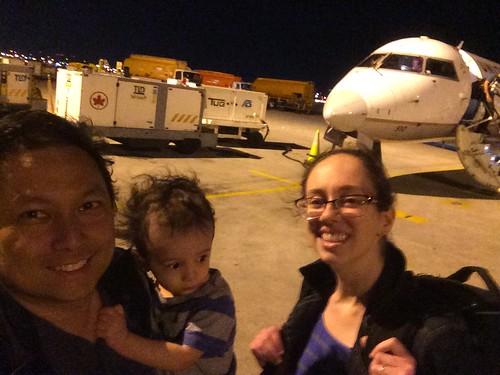 Ezra's first plane ride