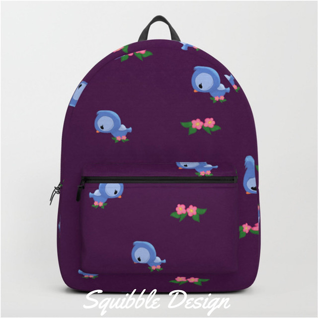 Bluebird_Backpacks_by_Squibble___Society6