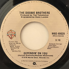 THE DOOBIE BROTHERS:DEPENDIN' ON YOU(LABEL SIDE-A)