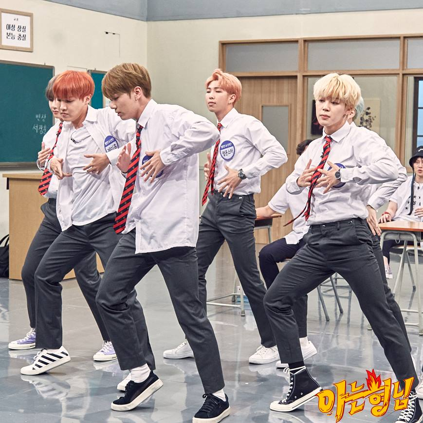 Imagini pentru BTS perform their hits on 'Knowing Brothers'
