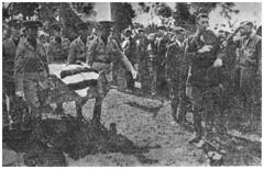 Slain bonus marcher funeral at Arlington Cemetery: 1932