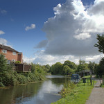 Clouds at the canal in Preston