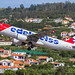 Edelweiss A320 (HB-IJV) take off at Madeira LPMA