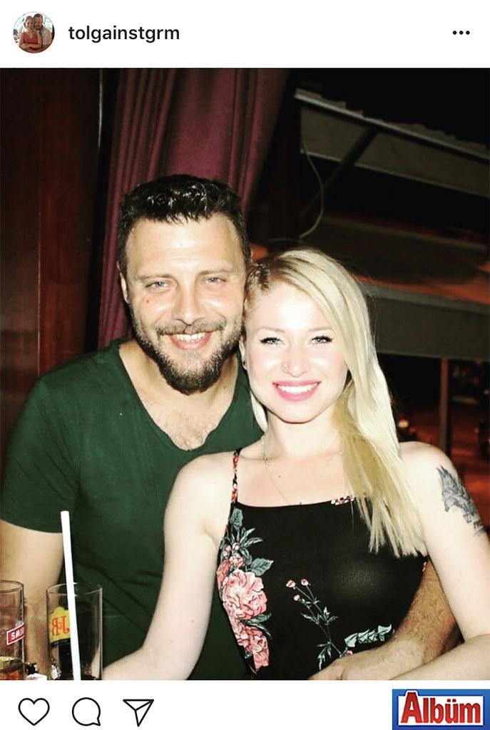 """Tolga Ormanlı, nişanlısı Aynur Demir ile birlikte çektirdiği fotoğrafı sosyal medya hesabından """"Aşk"""" notuyla paylaştı."""