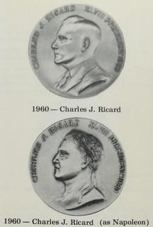 Charles J Ricard as Napoleon medal
