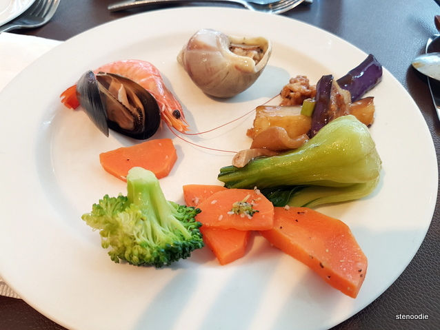 Shellfish and more veggies