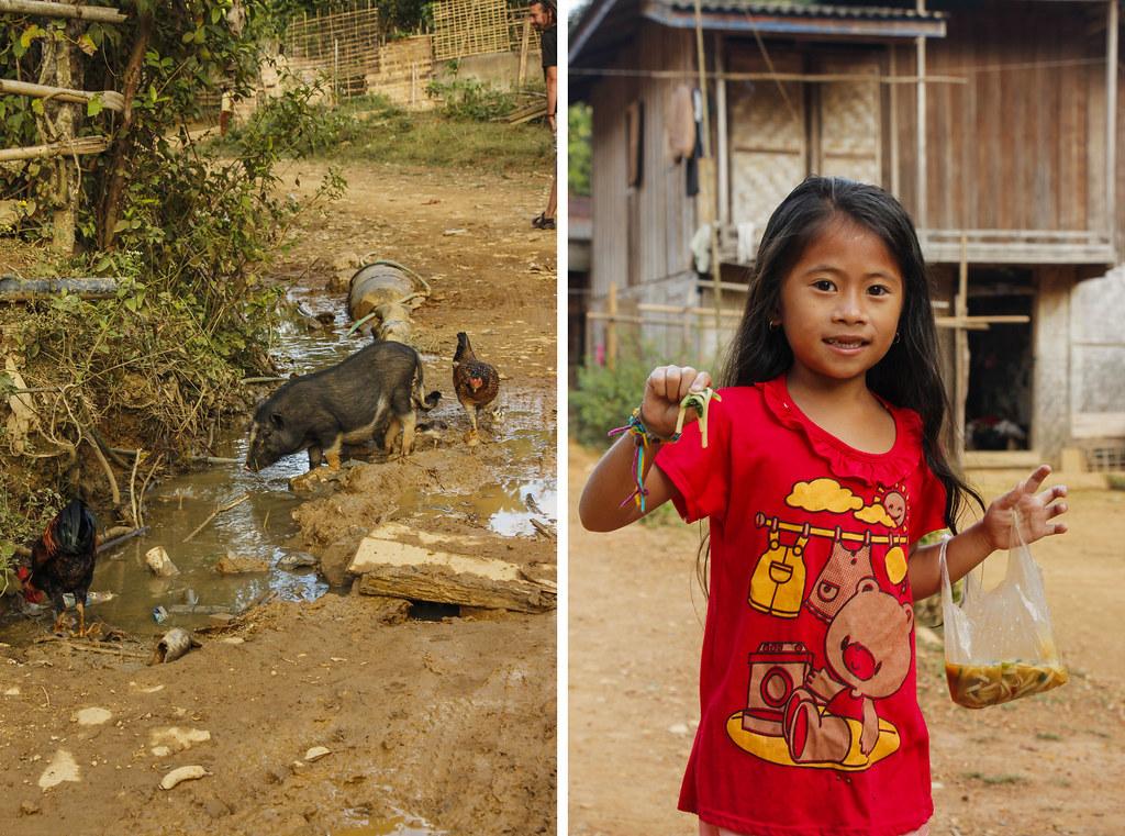 landsby i Laos