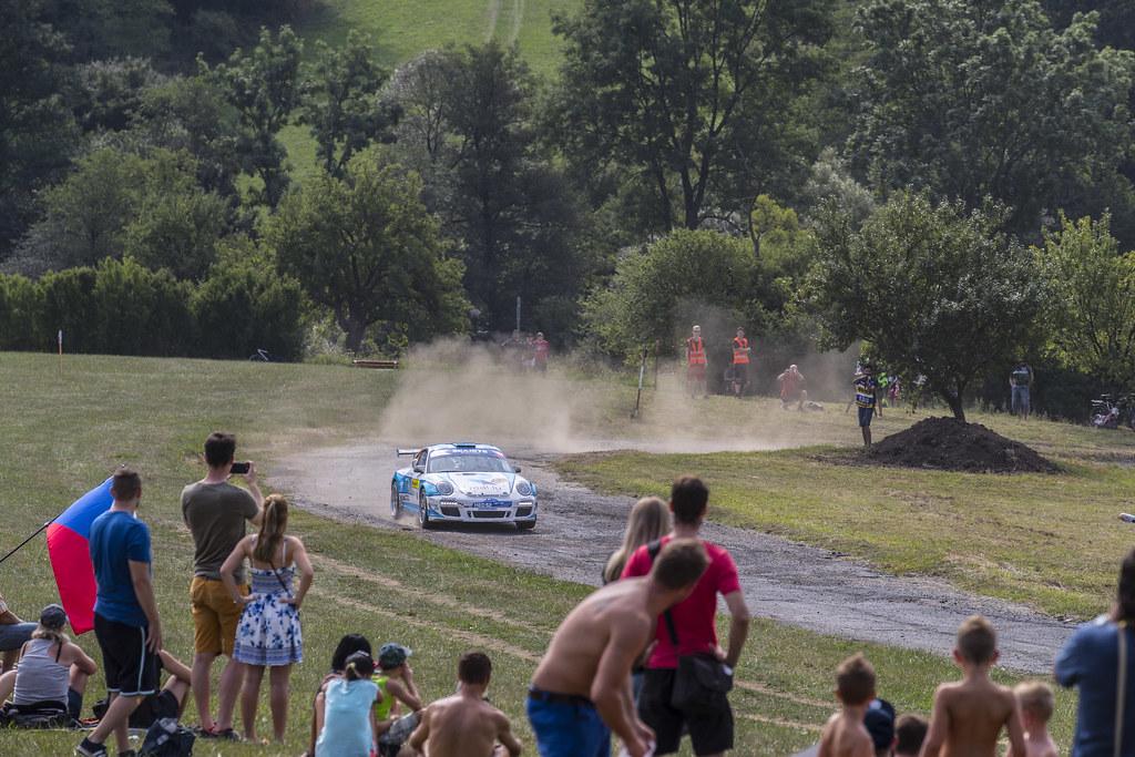 30 DUMAS Romain (FRA) GIRAUDET Denis (FRA) Porsche 997 GT3 action during the 2017 European Rally Championship ERC Barum rally,  from August 25 to 27, at Zlin, Czech Republic - Photo Gregory Lenormand / DPPI