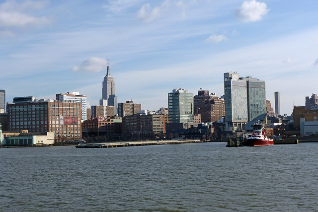 Midtown Manhattan as seen from Circle Line Boat Trip around Manhattan Island in New York City, NY
