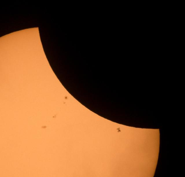 2017 Total Solar Eclipse - ISS Transit (NHQ201708210204)