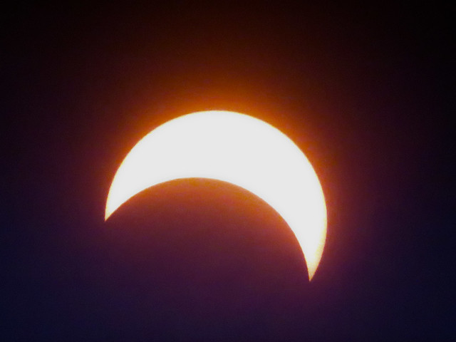 Solar Eclipse at peak (2:48 pm) POV Wakefield, Massachusetts; Monday, August 21, 2017