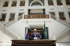 Sergey Lavrov at Foreign Ministry of Saudi Arabia
