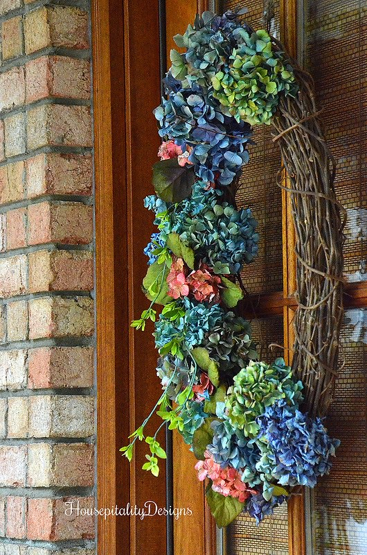 Hydrangrea wreath-Fall Porch 2016-Housepitality Designs