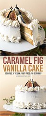 Caramel Fig Vanilla Layer Cake