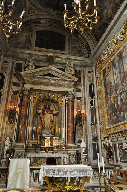 Chapelle, église baroque du Gesù Nuovo (1584-1725), piazza del Gesù Nuovo,  Naples, Campanie, Italie.